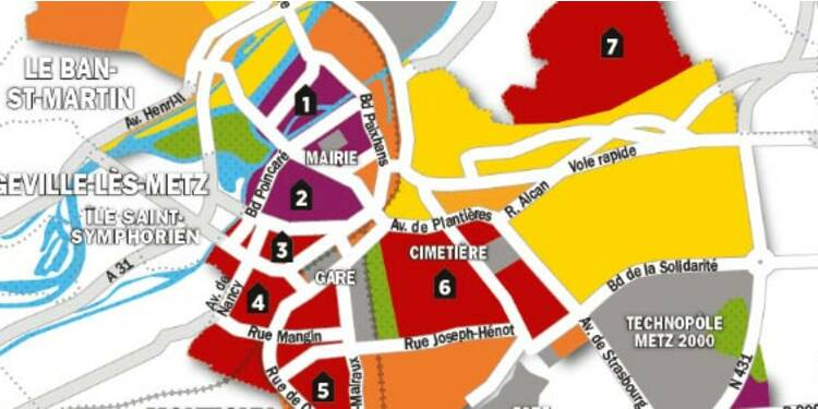Immobilier : la carte des prix de Metz