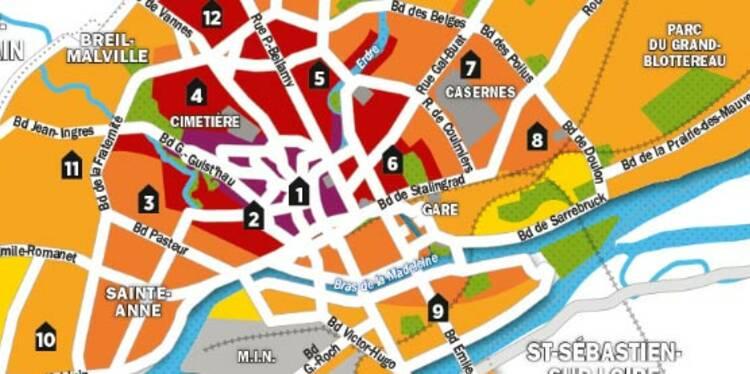 Immobilier : la carte des prix de Nantes