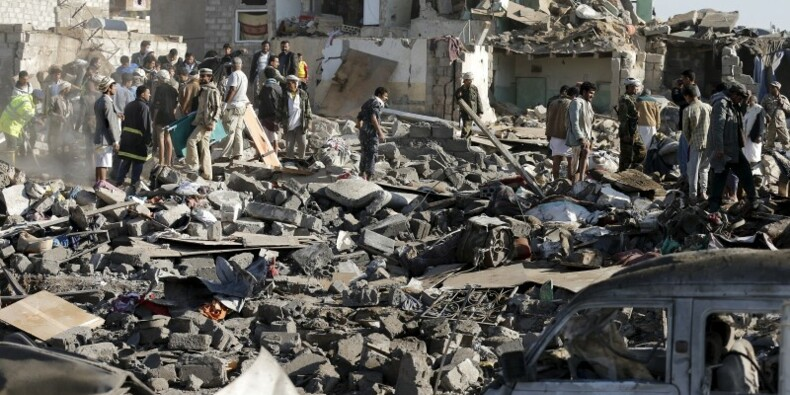 Offensive aérienne saoudienne contre les Houthis au Yémen
