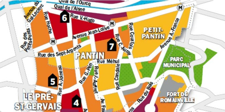 Immobilier en Ile-de-France : la carte des prix de Pantin, Le Pré-Saint-Gervais et Les Lilas