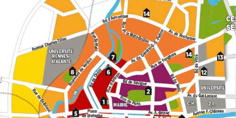 Immobilier : la carte des prix de Rennes