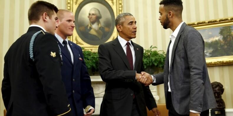 Barack Obama reçoit les trois Américains du Thalys