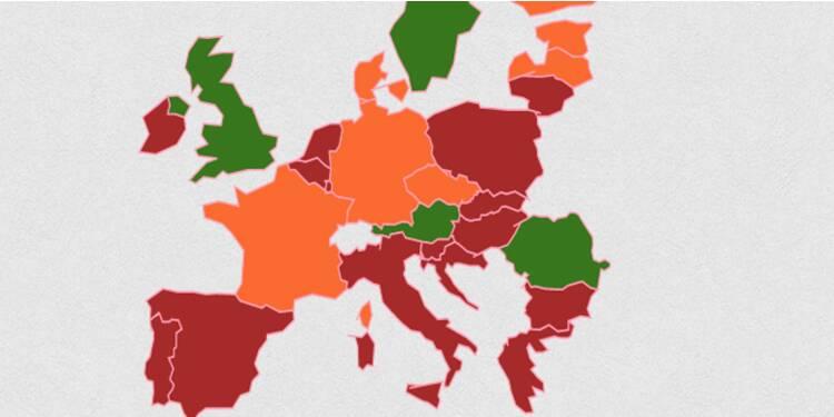 Les pays européens au bord de la déflation… et ceux qui y sont déjà