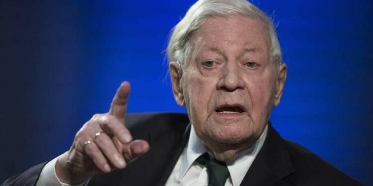 L'ex-chancelier allemand Helmut Schmidt est mort