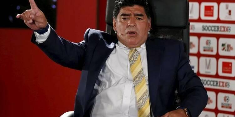 "Maradona veut combattre la ""mafia"" au sein de la FIFA"