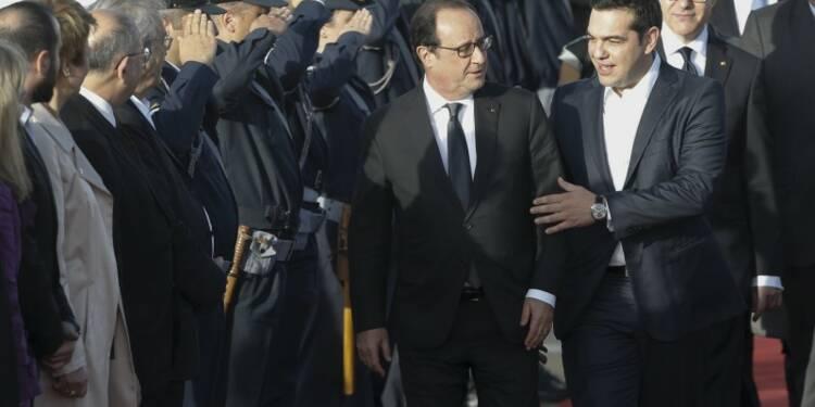 En visite en Grèce, François Hollande espère soigner sa gauche