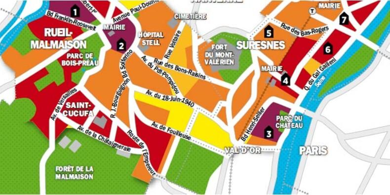 Immobilier en Ile-de-France : la carte des prix de Rueil-Malmaison, Suresnes et Puteaux