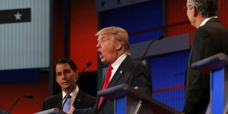 Donald Trump, au centre du premier débat républicain