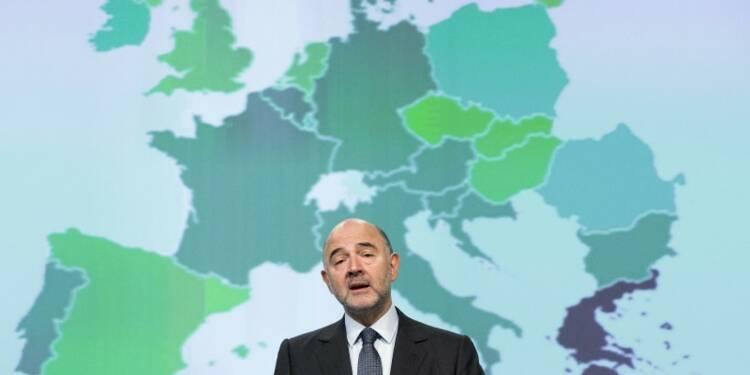 Moscovici ne voit pas la croissance faiblir avec les attentats
