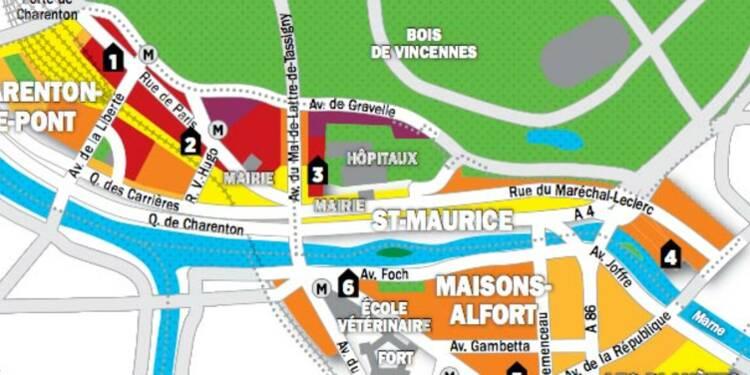 Immobilier en Ile-de-France : la carte des prix de Charenton, Saint-Maurice et Maisons-Alfort