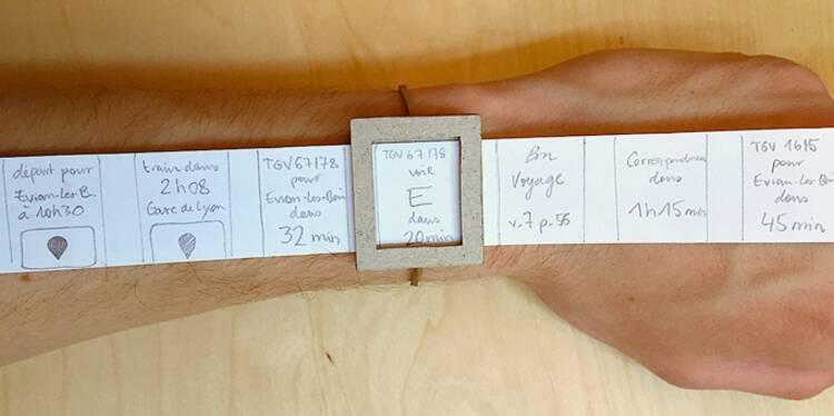 La montre en carton qui a permis à Capitaine Train d'être prêt pour l'Apple Watch