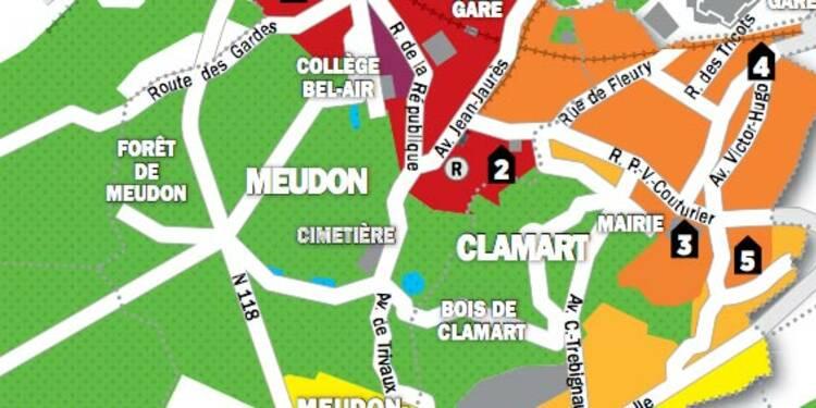 Immobilier en Ile-de-France : la carte des prix de Clamart et Meudon