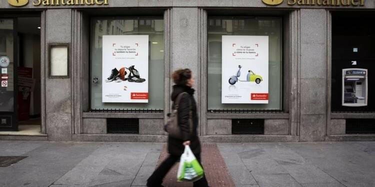 Bond de 32% du profit de Santander au 1er trimestre