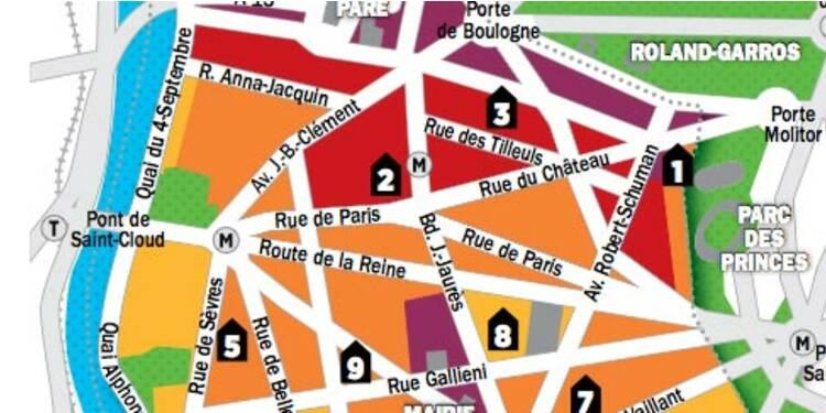 Immobilier en Ile-de-France : la carte des prix de Boulogne-Billancourt