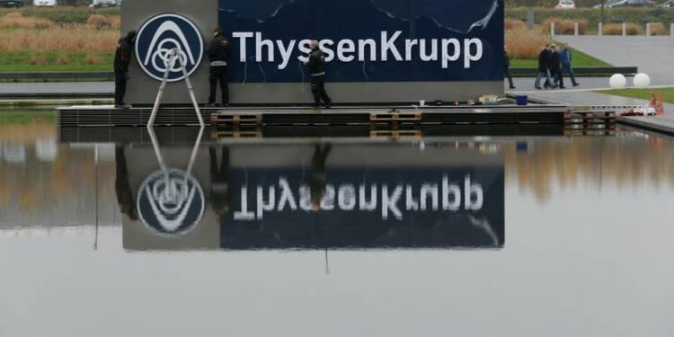 ThyssenKrupp porté par l'acier européen et les ascenseurs