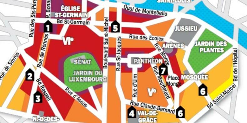 Immobilier à Paris : la carte des prix des 5e et 6e arrondissements