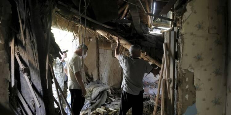 RPT-Le centre de Donetsk, dans l'est de l'Ukraine, bombardé