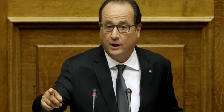 Hollande avec les Grecs et contre les extrêmes à Athènes