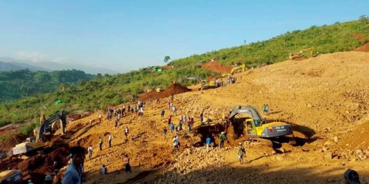 Glissement de terrain dans une mine en Birmanie, 100 morts