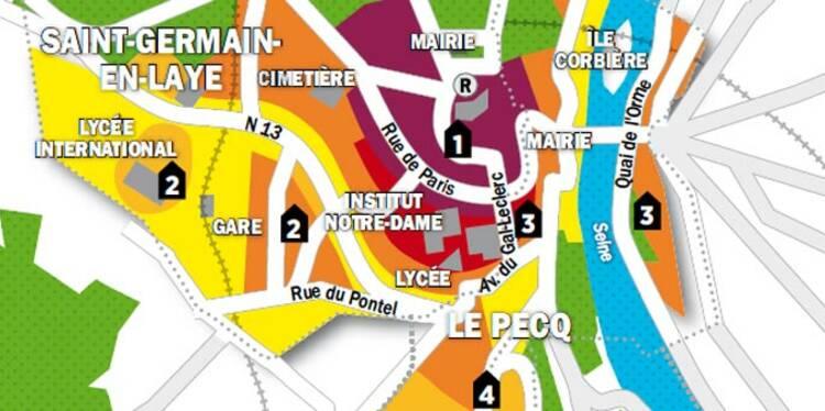 Immobilier en Ile-de-France : la carte des prix de Marly-le-Roi, Le Pecq et Saint-Germain-en-Laye