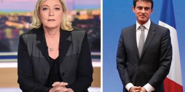Le Pen appelle Valls à débattre avant les régionales