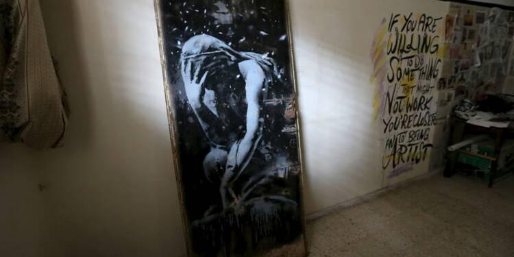 Imbroglio judiciaire autour d'une porte peinte par Banksy à Gaza