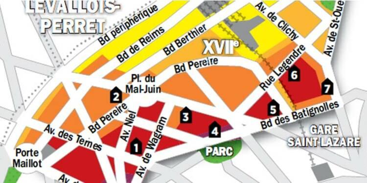 Immobilier à Paris : la carte des prix du 17e arrondissement