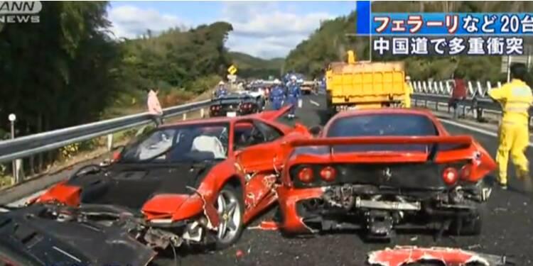 Ferrari, Lamborghini… un carambolage à 2,8 millions d'euros au Japon