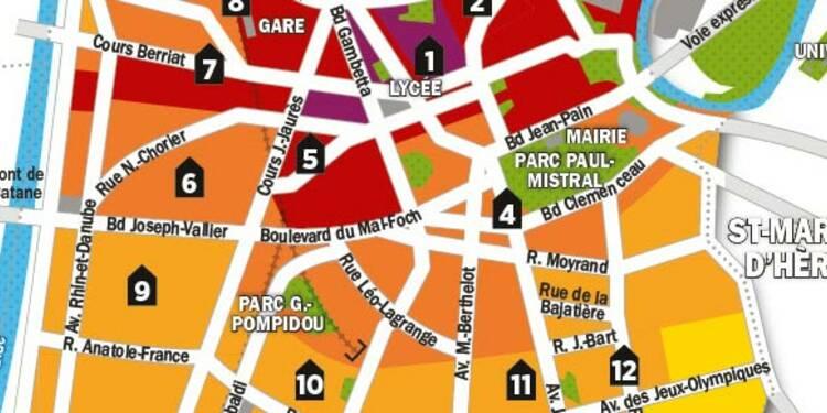 Immobilier : la carte des prix de Grenoble