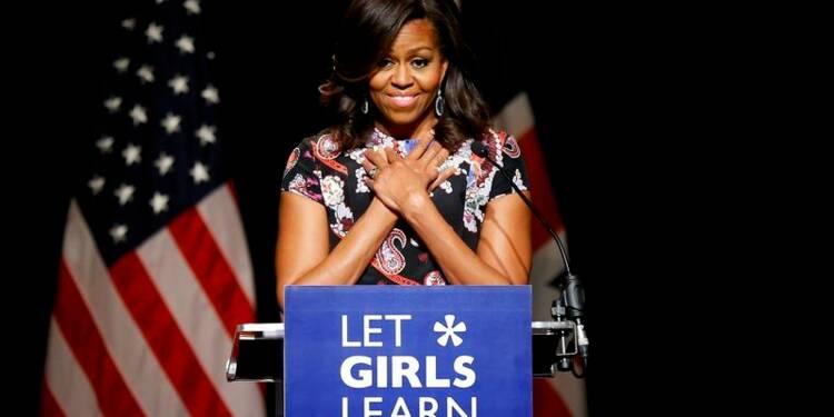 Michelle Obama à Londres pour promouvoir l'éducation des filles