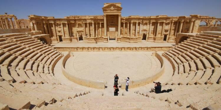 Exécutions dans le théâtre antique de Palmyre en Syrie