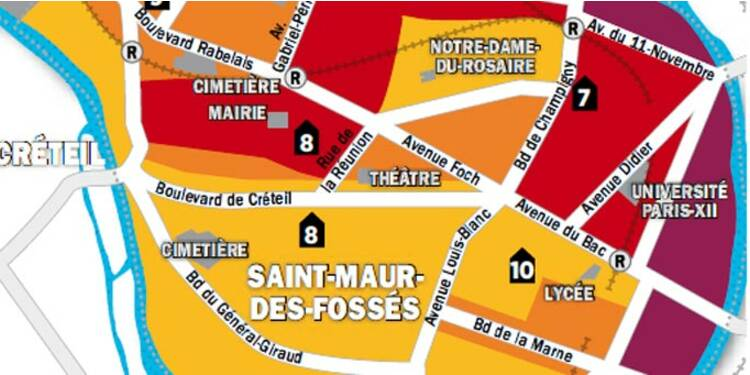 Immobilier En Ile De France La Carte Des Prix De Nogent Sur Marne Joinville Le Pont Et Saint Maur Capital Fr