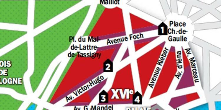 Immobilier à Paris : la carte des prix du 16e arrondissement