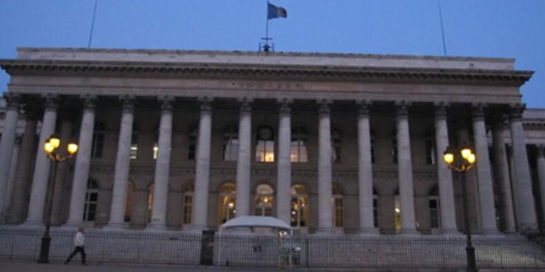Correction symbolique de la Bourse de Paris