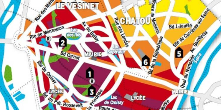 Immobilier en Ile-de-France : la carte des prix de Chatou et Le Vésinet