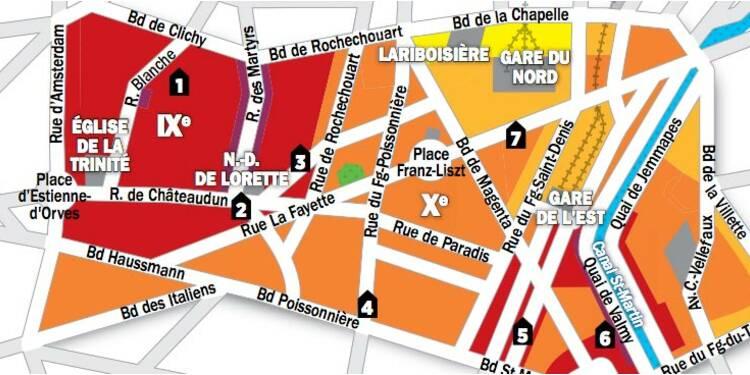 Immobilier à Paris : la carte des prix des 9e et 10e arrondissements