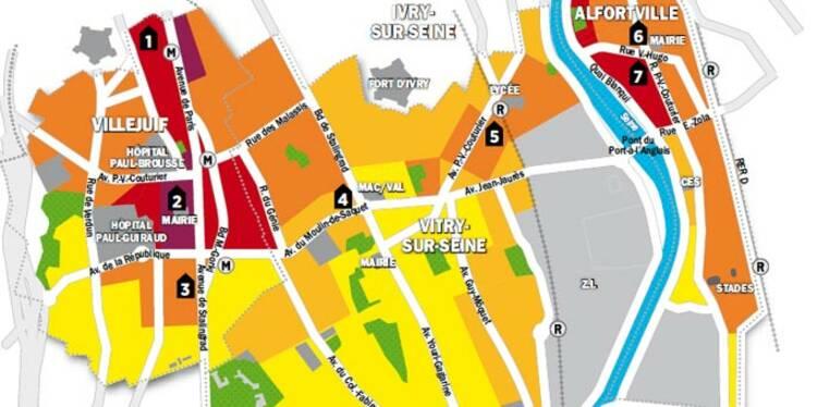 Immobilier en Ile-de-France : la carte des prix de Vitry, Alfortville, Villejuif