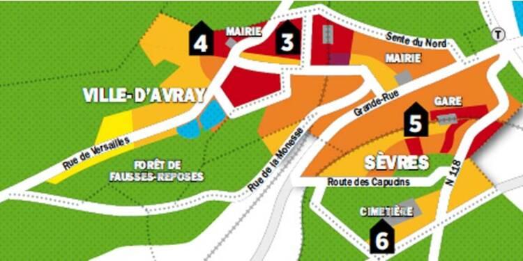 Immobilier en Ile-de-France : la carte des prix de Saint-Cloud, Sèvres et Ville-d'Avray