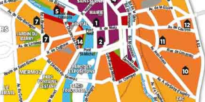 Immobilier : la carte des prix de Toulouse