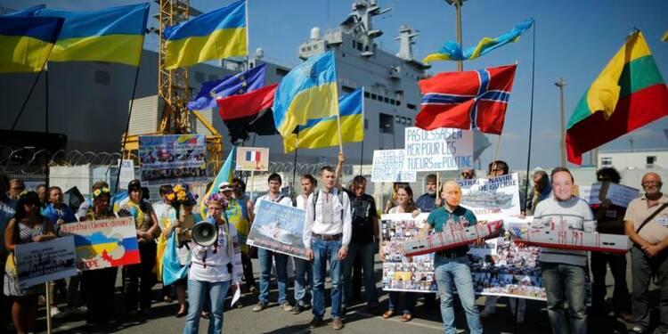 Pro-russes et pro-ukrainiens manifestent à Saint-Nazaire