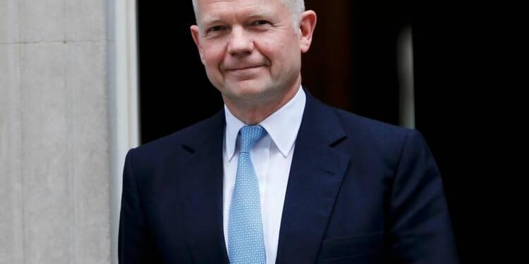 Démission surprise du secrétaire au Foreign office William Hague