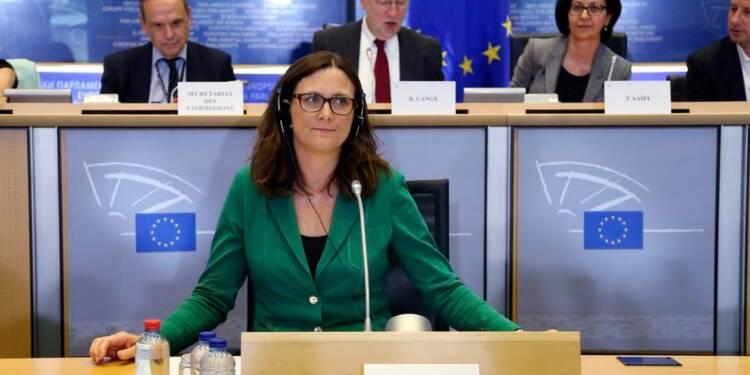 La probable commissaire européenne au Commerce joue l'apaisement