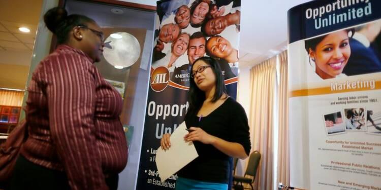 Hausse des créations d'emplois et baisse du chômage aux USA