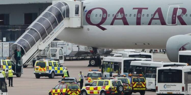 Fausse alerte à la bombe à bord d'un avion, escorté à Manchester