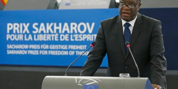Prix Sakharov, le Dr Mukwege appelle l'UE à aider le Congo