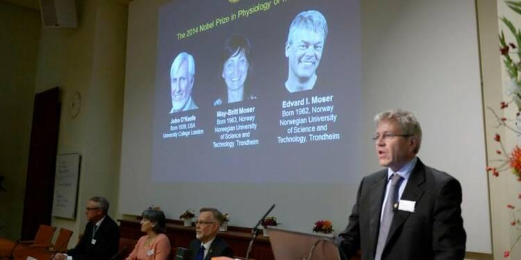 Le Nobel de médecine à trois découvreurs du GPS du cerveau