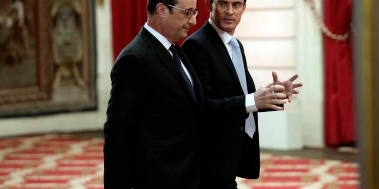 Les cotes de popularité de Hollande et de Valls rechutent