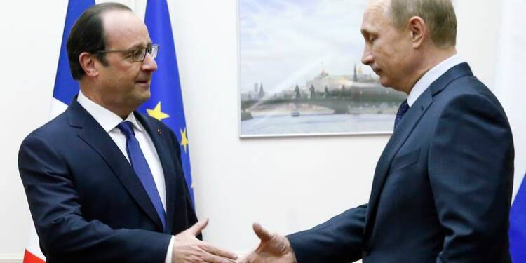 Hollande et Poutine espèrent une trêve rapide en Ukraine