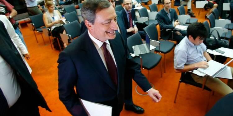 Les taux resteront bas du fait d'une reprise inégale, selon Mario Draghi