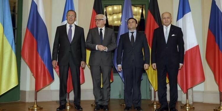 Réunion sur l'Ukraine à Berlin, Merkel dubitative